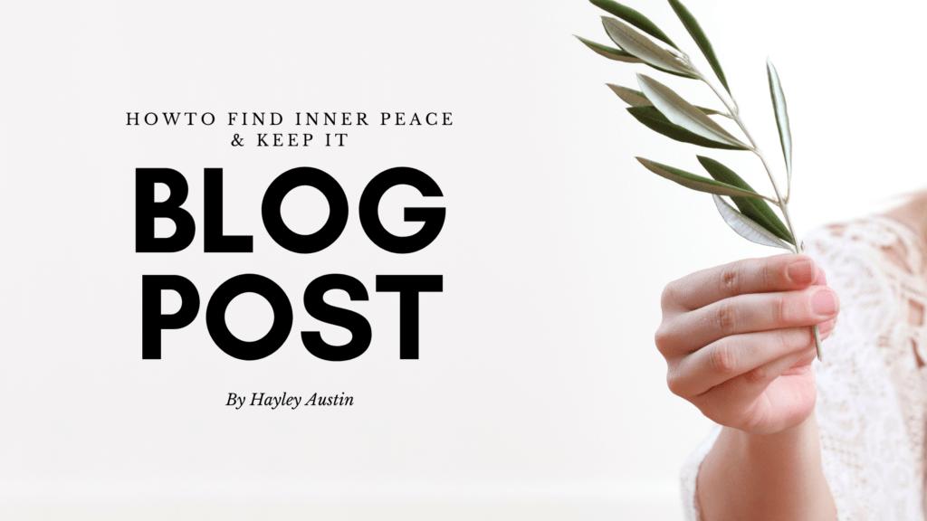 inner peace blog